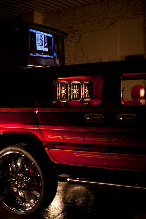 15 December 2011- Beto Gomez's Hummer is photographed for RIDES Magazine in Omaha, Nebraska.