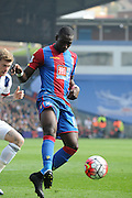 Yannick Bolasie playing out wide during the Barclays Premier League match between Crystal Palace and West Bromwich Albion at Selhurst Park, London, England on 3 October 2015. Photo by Michael Hulf.
