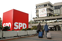 28 OCT 2007, HAMBURG/GERMANY:<br /> SPD Wuerfel vor dem Congress Centrum Hamburg, SPD Bundesparteitag, CCH<br /> IMAGE: 20071028-01-002<br /> KEYWORDS: Würfel