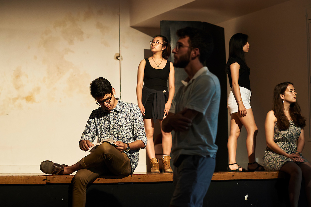 Paris, France. June 23, 2016. Students from Princeton attending a workshop / course about French theater at the Centre National Supérieur d'Arts Dramatiques. They play short scenes from Moliere. Photo : © Antoine Doyen