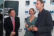 Tan Twan Eng, Alison Moore;   Will Self ;  , The Man Booker prize 2012 drinks to celebrate the shortlist. The Orangery, Holland Park. London. 11 September 2012.