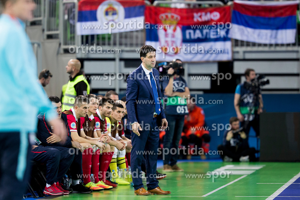 Goran Ivancic, head coach of Serbia during futsal match between Slovenia and Serbia at Day 1 of UEFA Futsal EURO 2018, on January 30, 2018 in Arena Stozice, Ljubljana, Slovenia. Photo by Urban Urbanc / Sportida