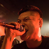 BEIJING, OCTOBER 2013 : Shen Yue , vocalist of legendary punk band Anarchy Boys, performs  at Beijing's Yugong Yishan Club.