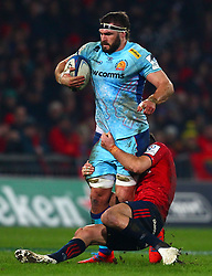 Don Armand of Exeter Chiefs is tackled by Conor Murray of Munster Rugby - Mandatory by-line: Ken Sutton/JMP - 19/01/2019 - RUGBY - Thomond Park - Limerick,  - Munster Rugby v Exeter Chiefs -