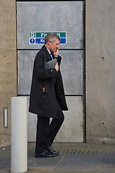 Scottish Liberal democrat leader Willie Rennie takes the long walk up the Royal MIle after a long day at ther Parliament following the demonsteation for Scotland to stay in the EU.<br /> <br /> (c) Ger Harley| Edinburgh Elite media