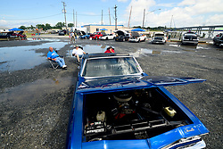 At the bayside people enjoy outdoor activities, including a vintage car show, during a long Labor Day weekend at Deal Island, Maryland on September 2, 2018. The American public holiday of Labor Day, on the first Monday in September is considered the unofficial end of Summer.
