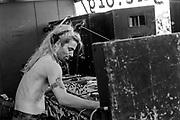 Tattooed DJ, Reclaim the Streets, Shepherd's Bush, London, July 1996