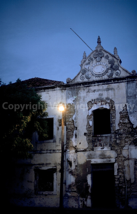 House of Stonetown. Mozambique island is part of UNESCO world heritage since 1991. .Facade de maison a Stonetown. L ile est classee patrimoine mondial de l humanite UNESCO depuis 1991.