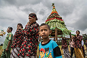 Javanese people do a ritual before harvesting season on Bantul, Yogyakarta, 2017.
