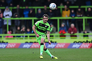 Forest Green Rovers Gavin Gunning(16) passes the ball forward during the EFL Sky Bet League 2 match between Forest Green Rovers and Carlisle United at the New Lawn, Forest Green, United Kingdom on 16 March 2019.