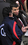 Twickenham, GREAT BRITAIN, Rob ANDREW,  watches the pre game training before the game between, England vs Scotland, Calcutta Cup Rugby match played at the  RFU Twickenham Stadium on Sat 03.02.2007  [Photo, Peter Spurrier/Intersport-images].....