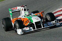 26.02.2010, Circuit de Catalunya, Barcelona, ESP, Formel 1 Tests, im Bild Vitantonio Liuzzi - Forse India F1 team, EXPA Pictures © 2010, PhotoCredit: EXPA/ InsideFoto/ Semedia / SPORTIDA PHOTO AGENCY