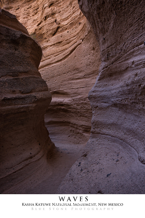20x30 poster print of southwest slot canyon geology.