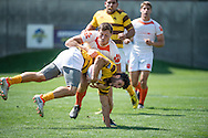 The University of Wyoming takes on Clemson University at Red Bull Uni 7s Rugby Qualifiers at Infinity Park in Glendale, CO, USA, on 25 August, 2016.