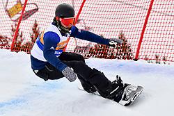 PICK Owen, SB-LL2, GBR, Banked Slalom at the WPSB_2019 Para Snowboard World Cup, La Molina, Spain