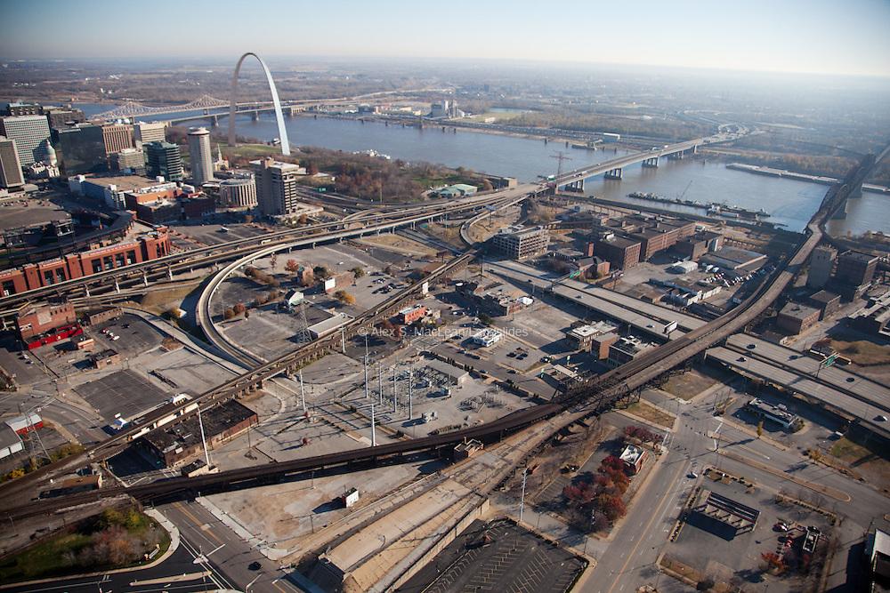 Waterfront area ajacent to Busch Stadium