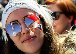 Supporter of Timi Zajc of Slovenia during the Ski Flying Hill Team Competition at Day 3 of FIS Ski Jumping World Cup Final 2019, on March 23, 2019 in Planica, Slovenia. Photo by Vid Ponikvar / Sportida