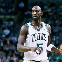 21 December 2012: Boston Celtics power forward Kevin Garnett (5) looks to pass the ball during the Milwaukee Bucks 99-94 overtime victory over the Boston Celtics at the TD Garden, Boston, Massachusetts, USA.