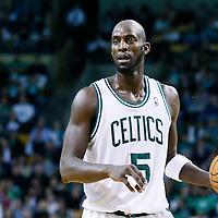 21 December 2012: Boston Celtics power forward Kevin Garnett (5) looks to pass the ball during the Milwaukee Bucks 99-94 overtime victory over the Boston Celtics at the TD Garden, Boston, Massachusetts, USA.