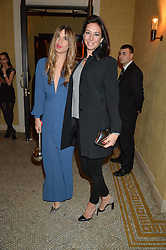 Left to right, FRANCESCA HODGE and KRISTINA BLAHNIK at a party to celebrate the publication of 'Have I Said Too Much' by Carole White held at the Cafe Royal, Regents Street, London on 18th February 2015.