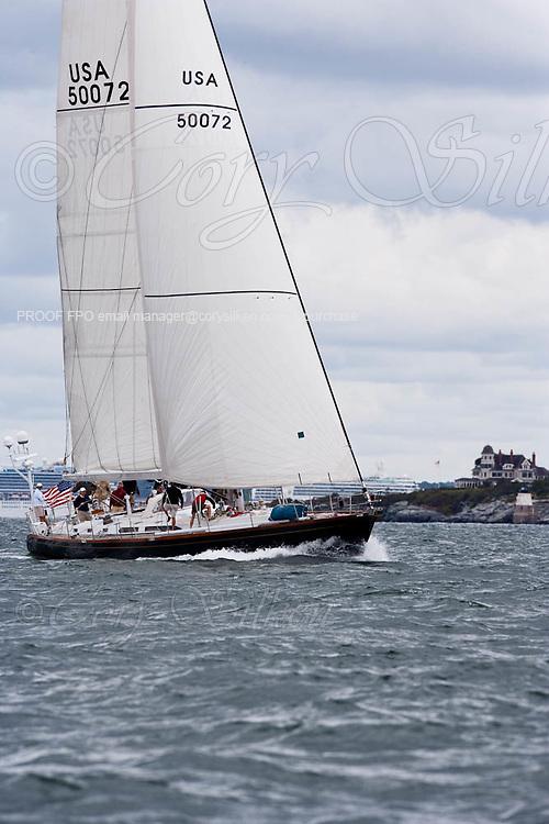 Fearless sailing in the Newport Bucket Regatta, race 2.