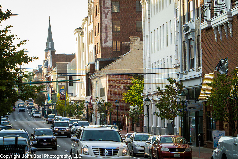 Downtown Hagerstown, Maryland, on Tuesday, September 26, 2017. Originally a District that was mostly rural, but included towns like Frederick and Hagerstown, Maryland's 6th District was redistricted in 2011, combining rural northern Maryland regions with more affluent communities like near Washington D.C. turning the district from Republican to Democrat. <br />  <br /> CREDIT: John Boal for The Wall Street Journal<br /> GERRYMANDER