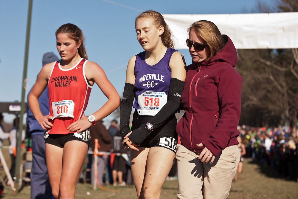 New England High School XC Championship, Bethanie Brown after finishing, Spillane