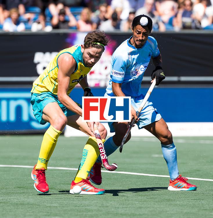 BREDA - Flynn Ogilvie (Aus) met Dilpreet Singh (Ind.)  . Australia-India (1-1), finale Rabobank Champions Trophy 2018. Australia wint shoot outs.  COPYRIGHT  KOEN SUYK