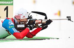 "20.01.2012, Südtirol Arena, Antholz, ITA, E.ON IBU Weltcup, 6. Biathlon, Antholz, Sprint Herren, im Bild Andrei Makoveev (RUS) // Andrei Makoveev (RUS) during Sprint Men E.ON IBU World Cup 6th, ""Southtyrol Arena"", Antholz-Anterselva, Italy on 2012/01/20, EXPA Pictures © 2012, PhotoCredit: EXPA/ Juergen Feichter"