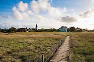 DEU, Germany, Schleswig-Holstein, North Sea,  Amrum island, the salt meadows near Nebel, St. Clemens church.<br /> <br /> DEU, Deutschland, Schleswig-Holstein, Nordseeinsel Amrum, die Salzwiesen bei Nebel, St. Clemens Kirche.