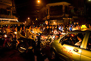 Old quarter of Hanoi, Vietnam is always busy with traffic