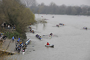 Putney/Barnes,  Great Britain, GV's from Barnes Bridge to the marshaling areas,  morning of the 2008 Head of the River Race. Raced from Mortlake to Putney, over the Championship Course.  15/03/2008  [Mandatory Credit. Peter Spurrier/Intersport Images] Rowing Course: River Thames, Championship course, Putney to Mortlake 4.25 Miles,