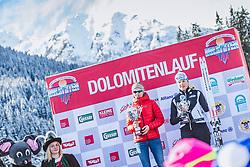 20.01.2019, Loipe Obertilliach, AUT, 45. Dolomitenlauf, Freestyle, im Bild v.l.: 1. Platz Thea Schwingshackl (ITA, 20km), 3. Platz Deborah Rosa (ITA, 20km) // during the 45th Dolomitenlauf Freestyle race at Obertilliach, Austria on 2019/01/20, EXPA Pictures © 2019 PhotoCredit: EXPA/ Dominik Angerer