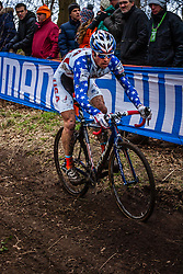 Jonathan PAGE (17,USA), 5th lap at Men UCI CX World Championships - Hoogerheide, The Netherlands - 2nd February 2014 - Photo by Pim Nijland / Peloton Photos