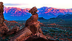 Balanced Rock is a prominent feature within the Valley of Fire State Park on Saturday, February 1, 2014.