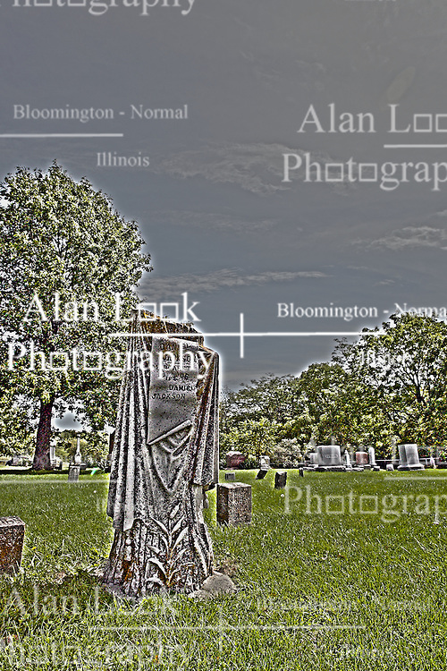 20 September 2012:   Moraine View State Park area.  Frankeberger Cemetery, Dawson IL..This image was produced in part utilizing High Dynamic Range (HDR) processes.  It should not be used editorially without being listed as an illustration or with a disclaimer.  It may or may not be an accurate representation of the scene as originally photographed and the finished image is the creation of the photographer.