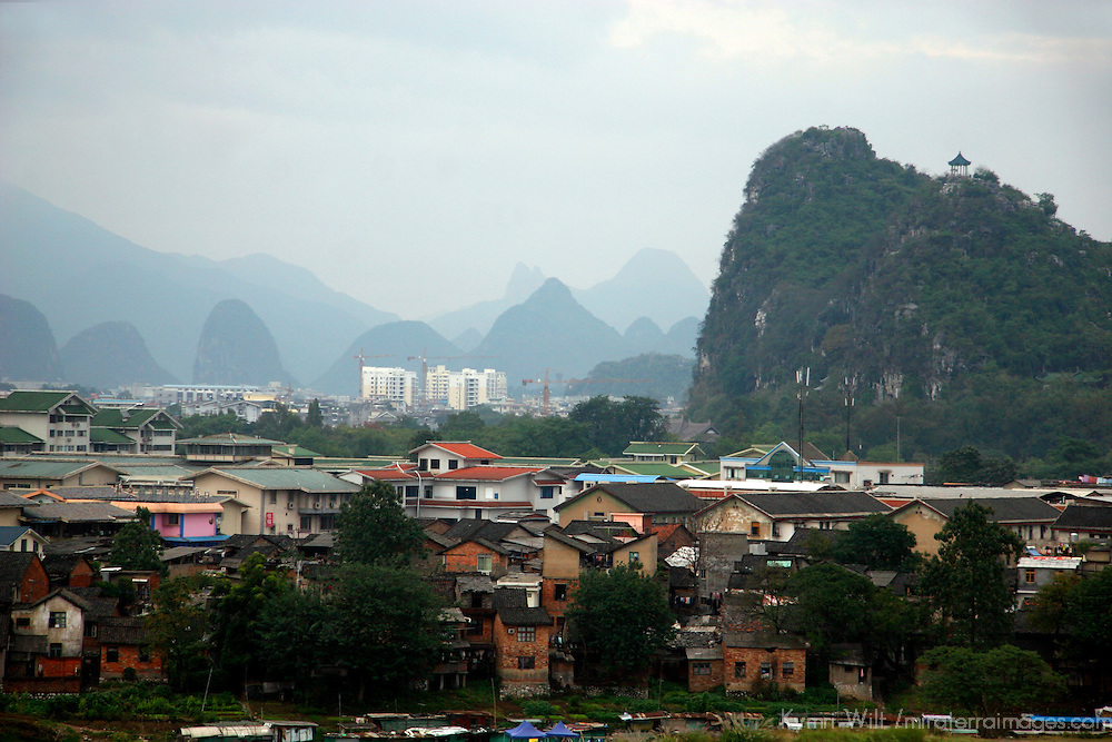 Asia, China, Guangxi, Guilin. Scenic landscape of Guilin.
