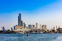 Bocagrande marina  skyline cityscape Cartagena de los indias Bolivar in Colombia South America