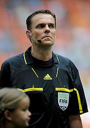 05-06-2010 VOETBAL: NEDERLAND - HONGARIJE: AMSTERDAM<br /> Nederland wint met 6-1 van Hongarije / Duits arbitraal trio Christopher Bornhorst<br /> ©2010-WWW.FOTOHOOGENDOORN.NL
