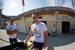 Vaclav Chalupa and Davor Mizerit during rowing at Slovenian National Championship and farewell of Iztok Cop, on September 22, 2012 at Lake Bled, Ljubljana Slovenia. (Photo By Matic Klansek Velej / Sportida)