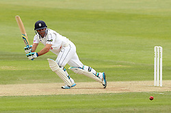 Hampshire's Will Smith flicks a shot away - Photo mandatory by-line: Robbie Stephenson/JMP - Mobile: 07966 386802 - 23/06/2015 - SPORT - Cricket - Southampton - The Ageas Bowl - Hampshire v Somerset - County Championship Division One