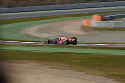 February 19, 2019 - Barcelona, Catalonia, Spain - English five time World Champions Lewis Hamilton of German team Mercedes-AMG Petronas Motosport go out to his motorhome during Barcelona winter test in Catalunya Circuit in Montmelo, Spain  (Credit Image: © Andrea Diodato/NurPhoto via ZUMA Press)