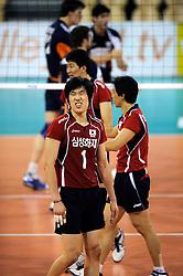 08-07-2010 VOLLEYBAL: WLV NEDERLAND - ZUID KOREA: EINDHOVEN<br /> Nederland verslaat Zuid Korea met 3-0 / Young Soo Shin<br /> ©2010-WWW.FOTOHOOGENDOORN.NL
