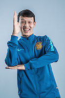 Portrait of Chinese soccer player Gao Tianyi of Jiangsu Suning F.C. for the 2017 Chinese Football Association Super League, in Nanjing city, east China's Jiangsu province, 27 February 2017.
