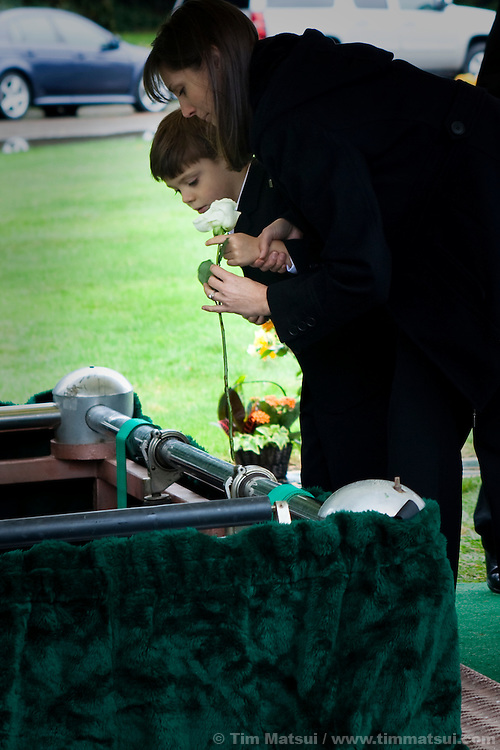 Warant Officer Michael Montgomery is buried in Redmond, Washington, after his death in the war in Afghanistan.