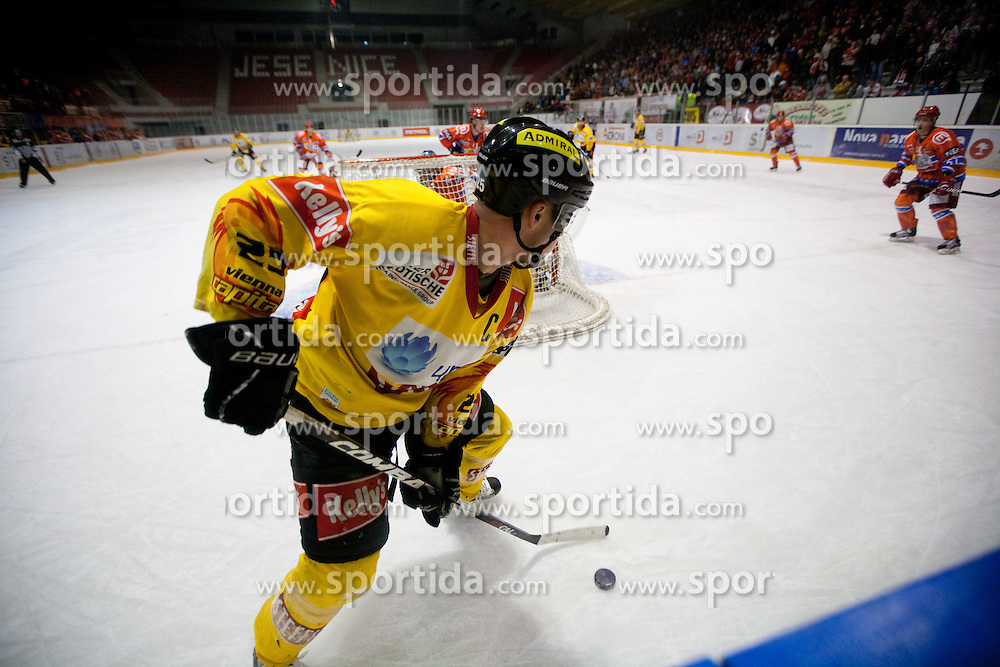 Benoit Gratton of Vienna during  ice-hockey match between HK Acroni Jesenice and EV Vienna Capitals of 44th Round of EBEL league, on January 30, 2011 in Arena Podmezkla, Jesenice, Slovenia.  (Photo By Vid Ponikvar / Sportida.com)