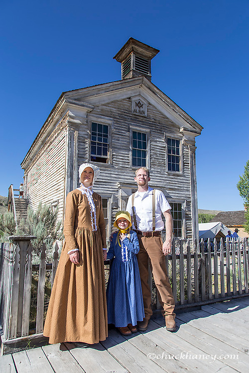 Family enjoys the festivites at Bannack Days in Bannack State Park, Montana, USA model released