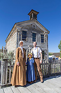 Family enjoys the festivites at Bannack Days in Bannack State Park, Montana, USA model released