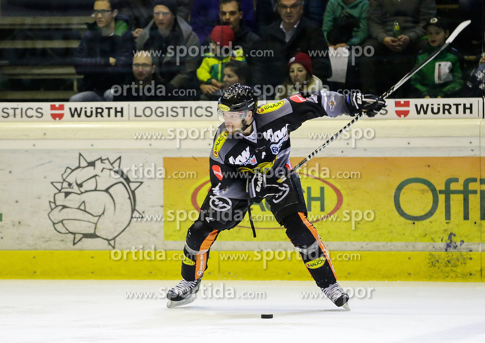 28.02.2016, Messestadion, Dornbirn, AUT, EBEL, Dornbirner Eishockey Club vs HC Orli Znojmo, Viertelfinale, 2. Spiel, im Bild Nicholas Crawford, (Dornbirner Eishockey Club, #04)// during the Erste Bank Icehockey League 2nd quarterfinal match between Dornbirner Eishockey Club and HC Orli Znojmo at the Messestadion in Dornbirn, Austria on 2016/02/28, EXPA Pictures © 2016, PhotoCredit: EXPA/ Peter Rinderer
