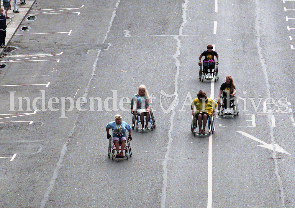 1998 Women's Mini Marathon sponsored by the Evening Herald, 7/6/98..<br /> Some participants on the road.<br /> (Part of the Independent Newspapers Ireland/NLI Collection).